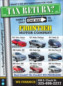 Frontier Motor Company Display Ad
